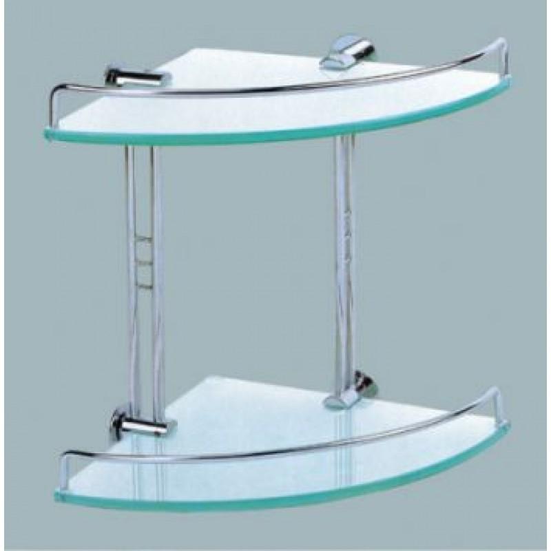 1312C Double Glass Shelf