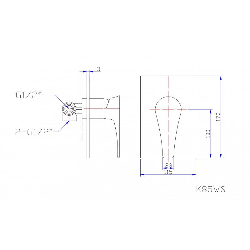 K85WS Wall Mixer