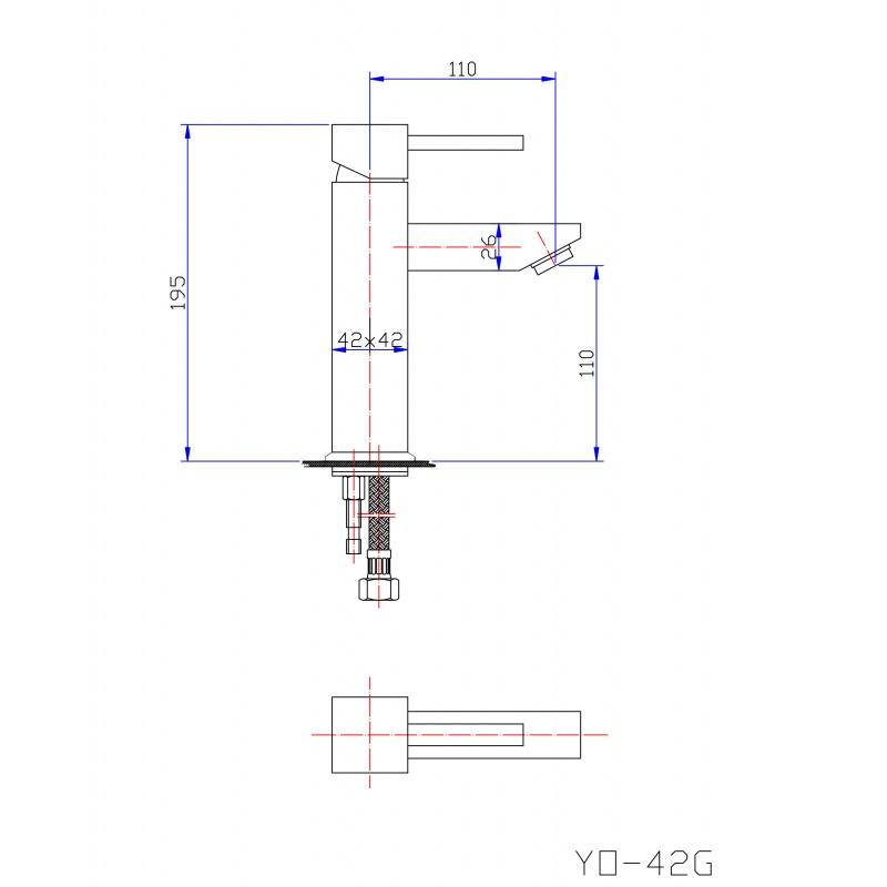 YO42G Basin Mixer